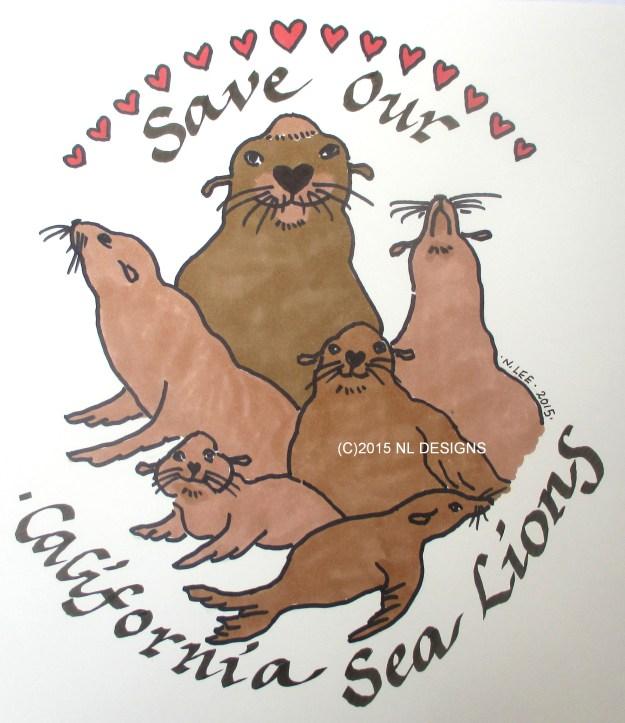 Sea lion t-shirt logo 1-28-2015 FINAL WATERMARK